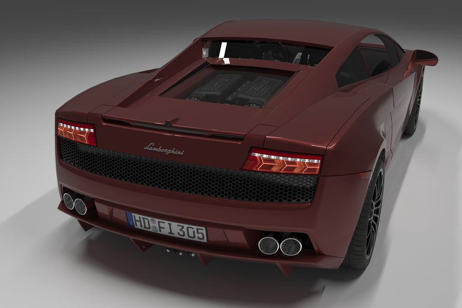 Lamborghini Gallardo royalty-free 3d model - Preview no. 3