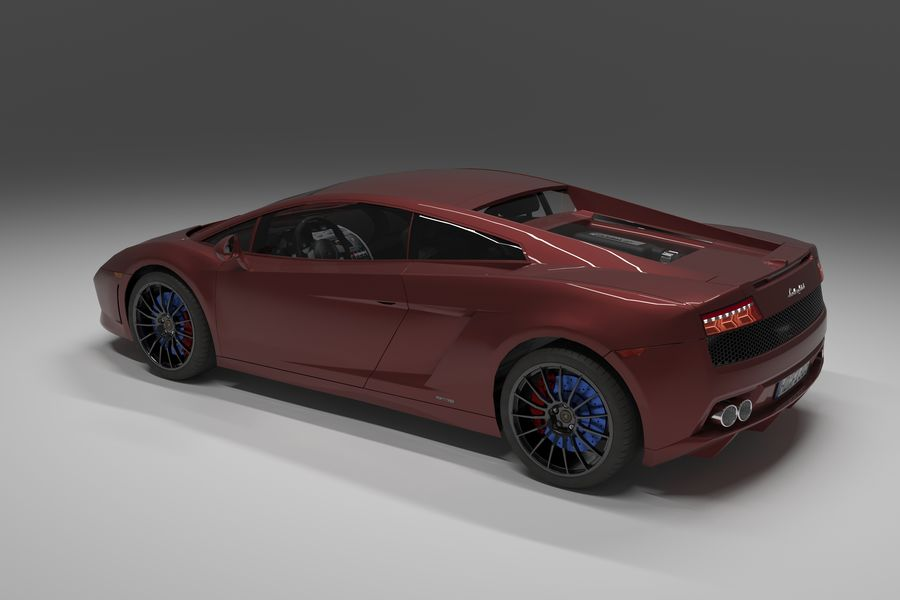 Lamborghini Gallardo royalty-free 3d model - Preview no. 5