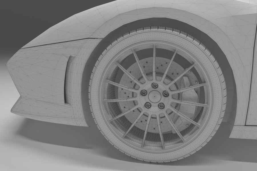Lamborghini Gallardo royalty-free 3d model - Preview no. 36