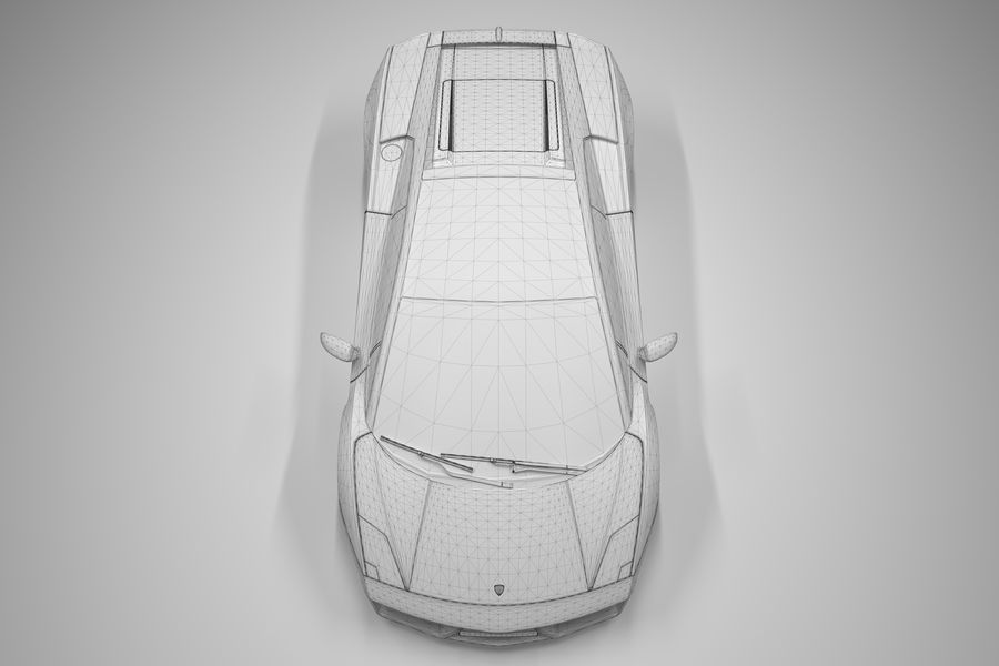Lamborghini Gallardo royalty-free 3d model - Preview no. 28