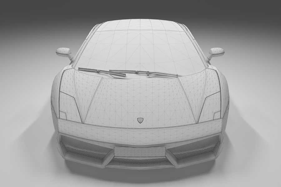 Lamborghini Gallardo royalty-free 3d model - Preview no. 25
