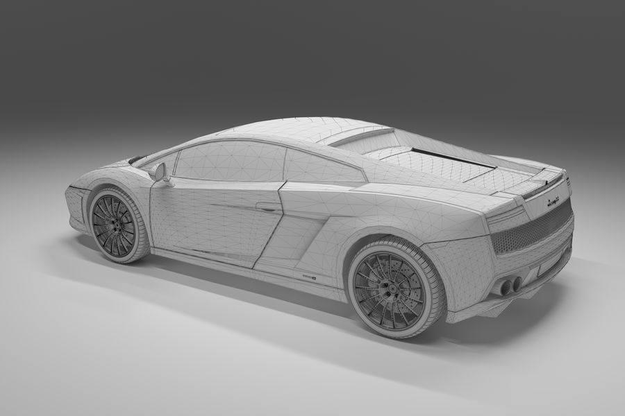 Lamborghini Gallardo royalty-free 3d model - Preview no. 23
