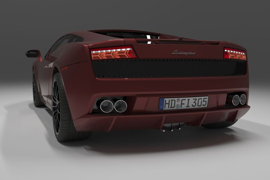 Lamborghini Gallardo royalty-free 3d model - Preview no. 16