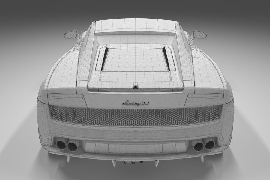Lamborghini Gallardo royalty-free 3d model - Preview no. 26