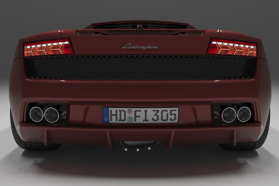 Lamborghini Gallardo royalty-free 3d model - Preview no. 13