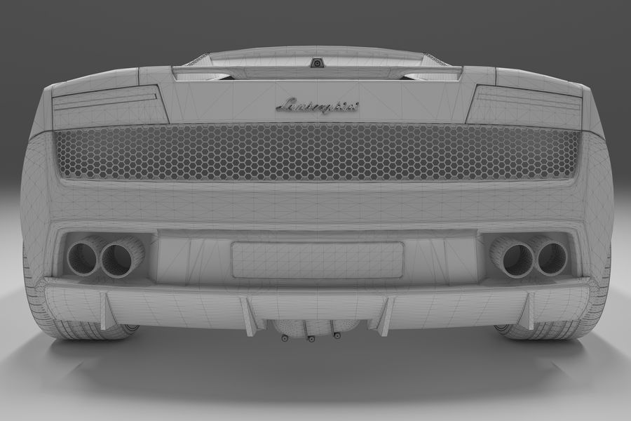 Lamborghini Gallardo royalty-free 3d model - Preview no. 31
