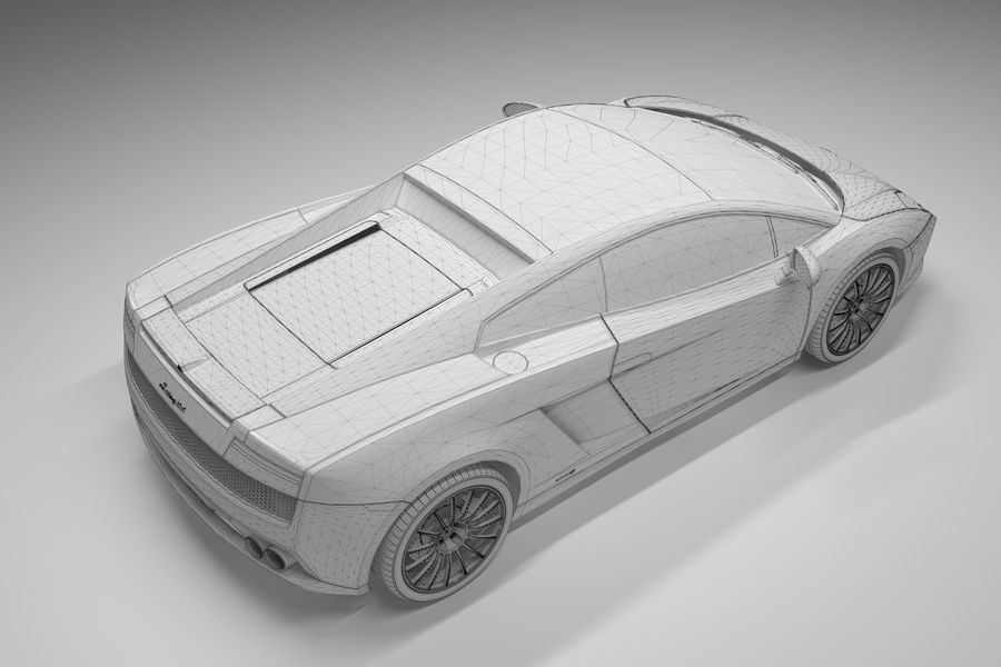 Lamborghini Gallardo royalty-free 3d model - Preview no. 30