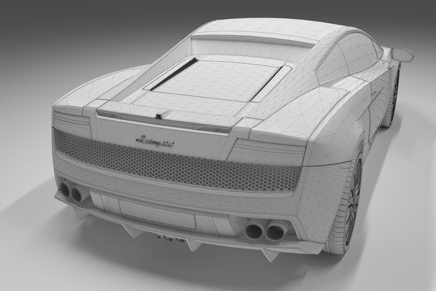Lamborghini Gallardo royalty-free 3d model - Preview no. 21