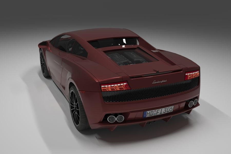 Lamborghini Gallardo royalty-free 3d model - Preview no. 4