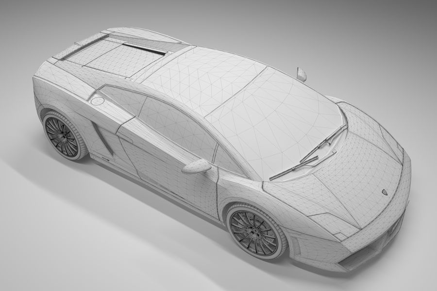 Lamborghini Gallardo royalty-free 3d model - Preview no. 29