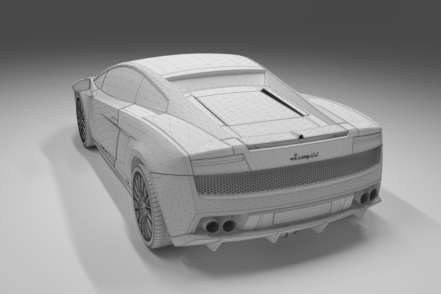 Lamborghini Gallardo royalty-free 3d model - Preview no. 22