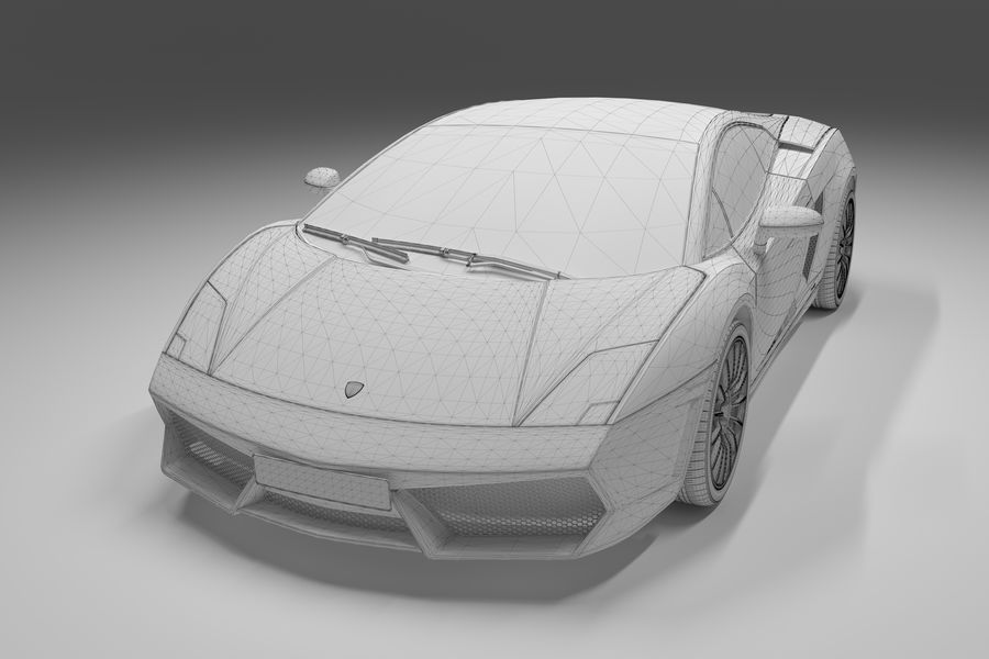 Lamborghini Gallardo royalty-free 3d model - Preview no. 24