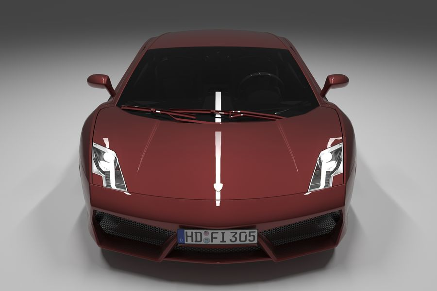Lamborghini Gallardo royalty-free 3d model - Preview no. 7