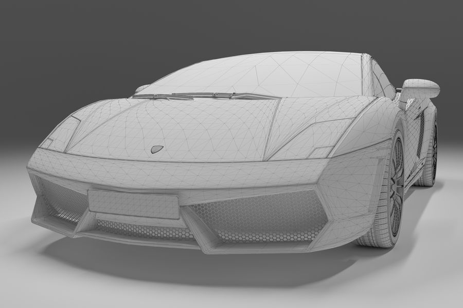 Lamborghini Gallardo royalty-free 3d model - Preview no. 33