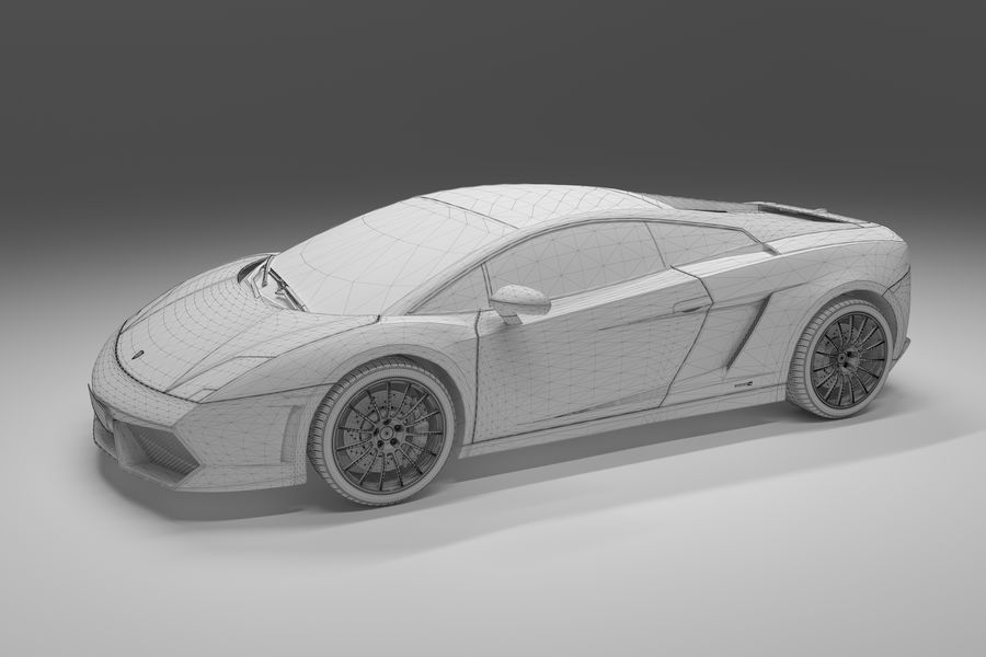 Lamborghini Gallardo royalty-free 3d model - Preview no. 19