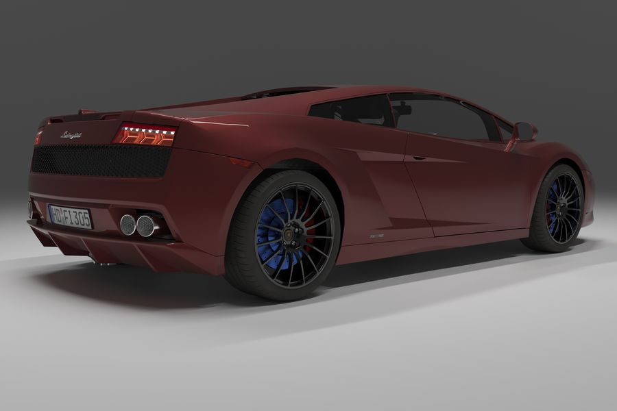 Lamborghini Gallardo royalty-free 3d model - Preview no. 2