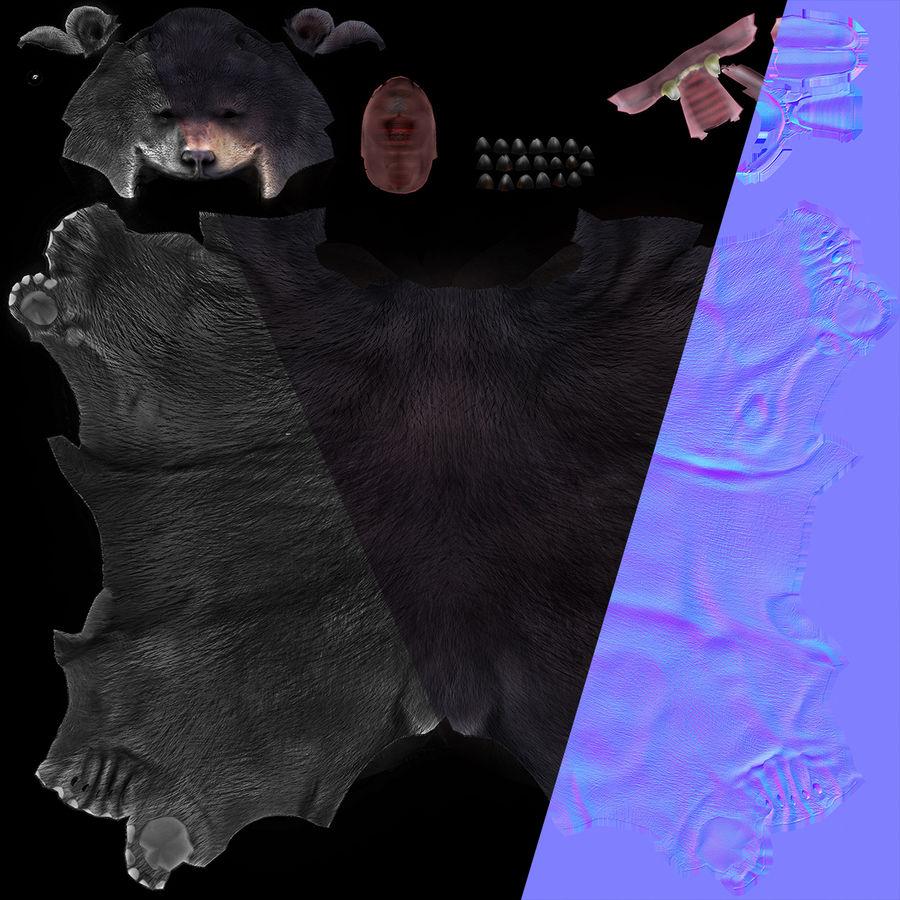 Urso preto royalty-free 3d model - Preview no. 9