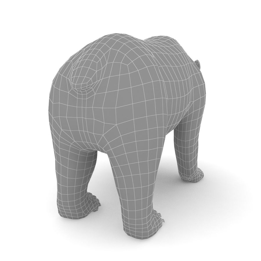 Urso marrom royalty-free 3d model - Preview no. 7