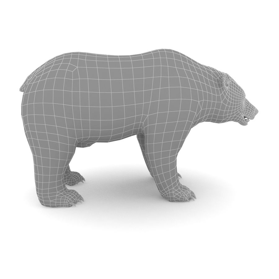 Urso marrom royalty-free 3d model - Preview no. 6