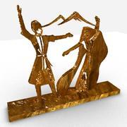 Armenian dance sculpture 3d model