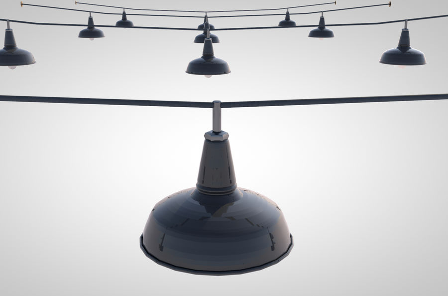 string lights royalty-free 3d model - Preview no. 1