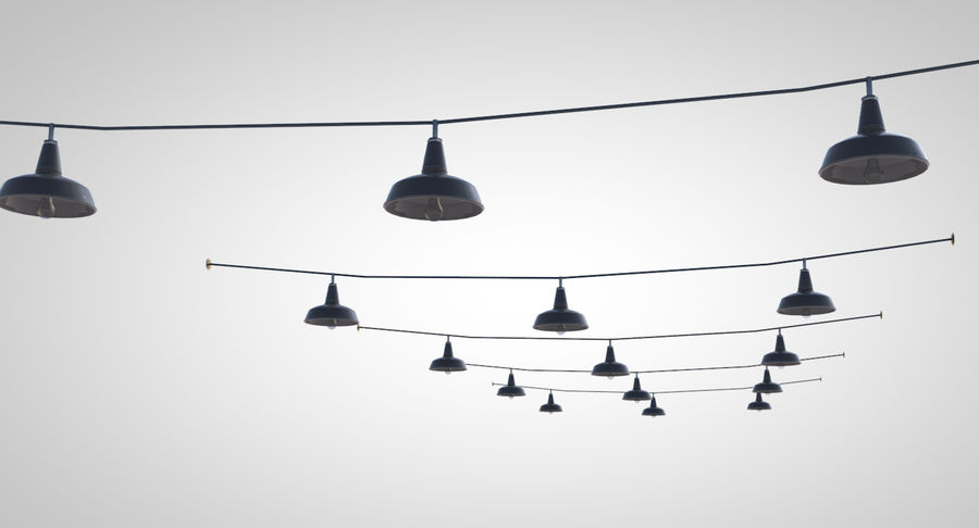 string lights royalty-free 3d model - Preview no. 5