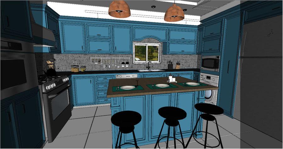 Diseño de cocina neoclásica royalty-free modelo 3d - Preview no. 4