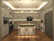Neo-Classical Kitchen Design 3d model