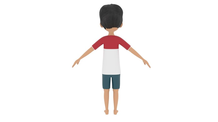 Boy Character royalty-free 3d model - Preview no. 3
