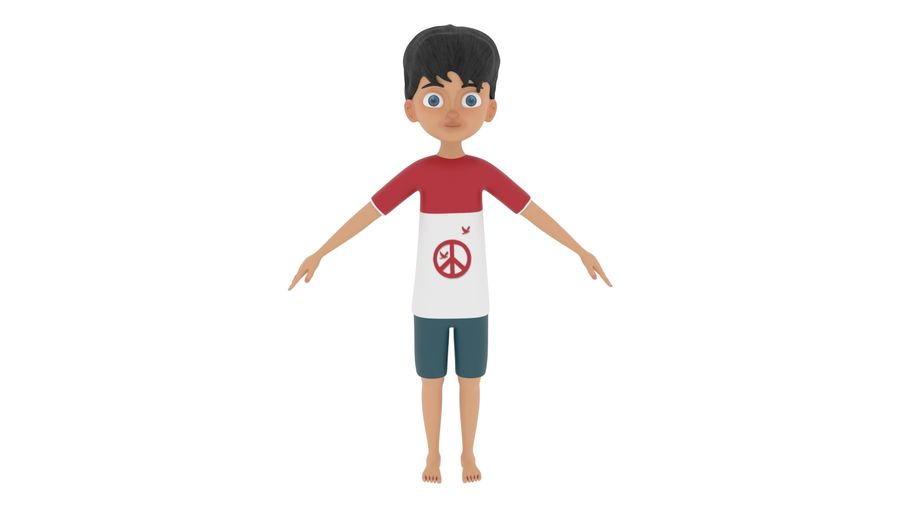 Boy Character royalty-free 3d model - Preview no. 1