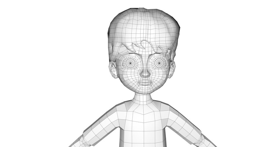 Boy Character royalty-free 3d model - Preview no. 5