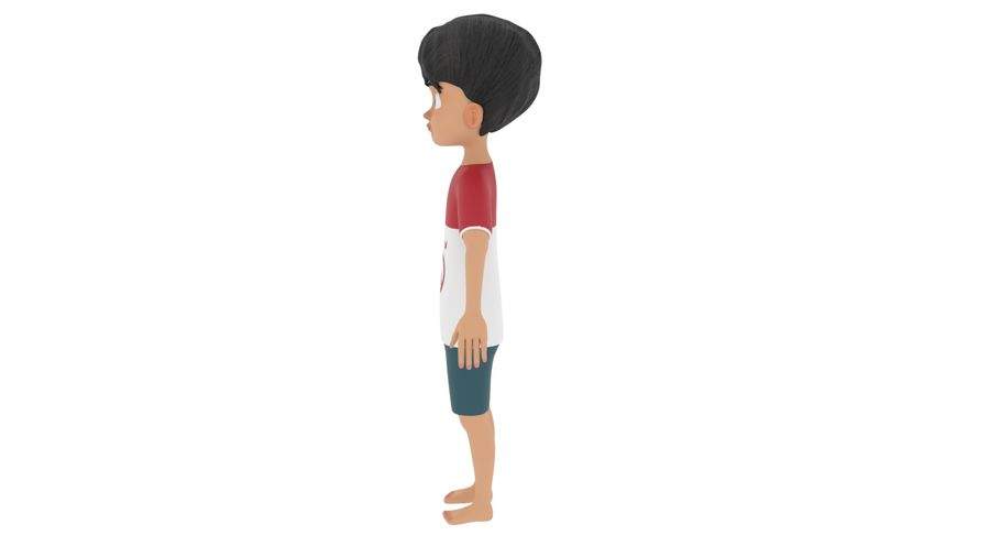Boy Character royalty-free 3d model - Preview no. 2