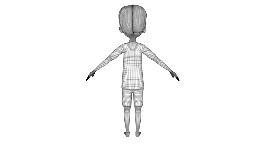 Boy Character royalty-free 3d model - Preview no. 4