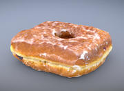 Quadratischer Jelly Glaze Donut 3d model