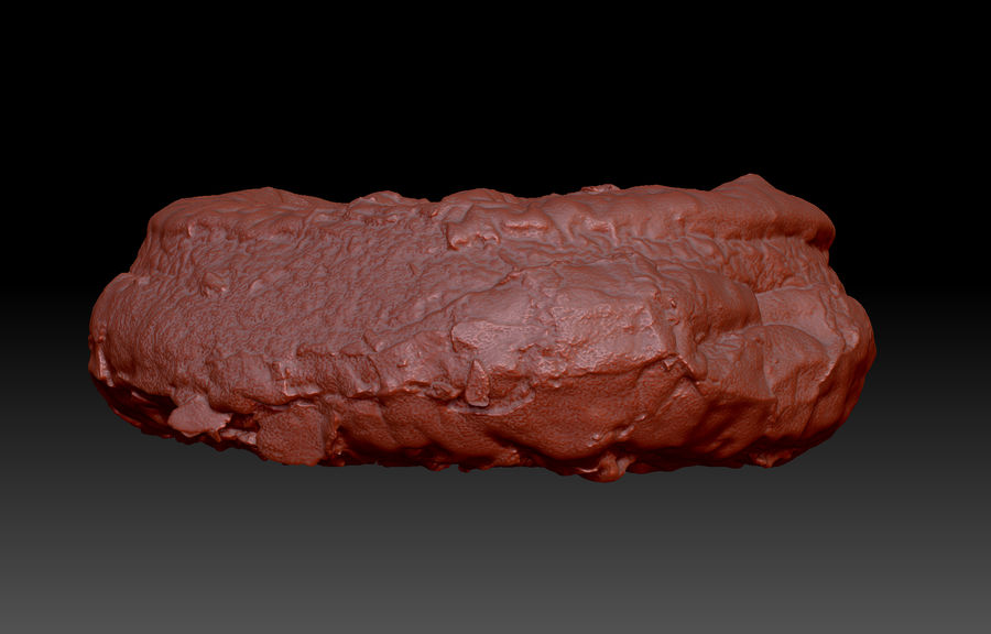 Doughnut Plant Chocolate Donut royalty-free 3d model - Preview no. 7