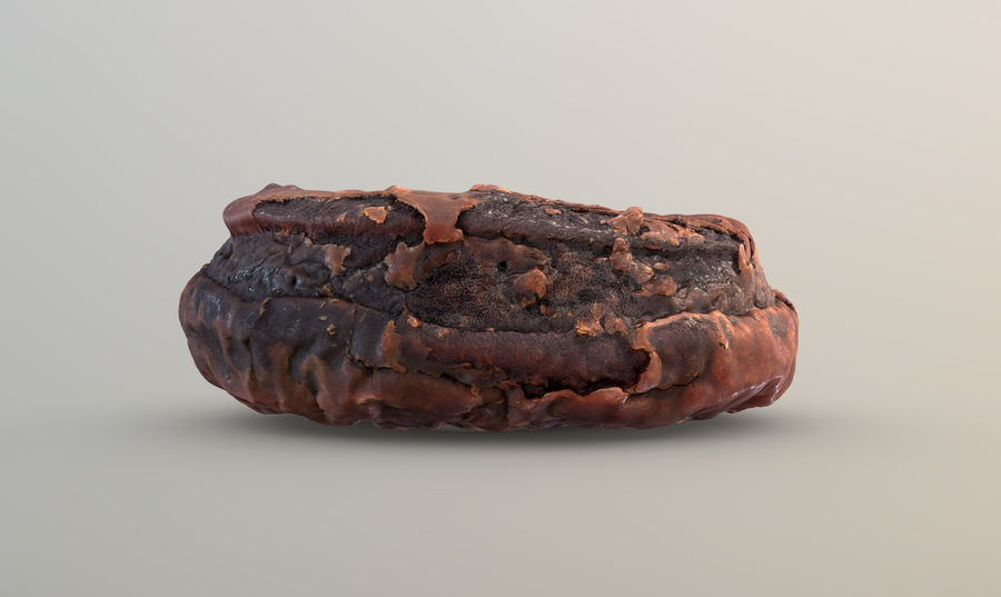 Doughnut Plant Chocolate Donut royalty-free 3d model - Preview no. 6