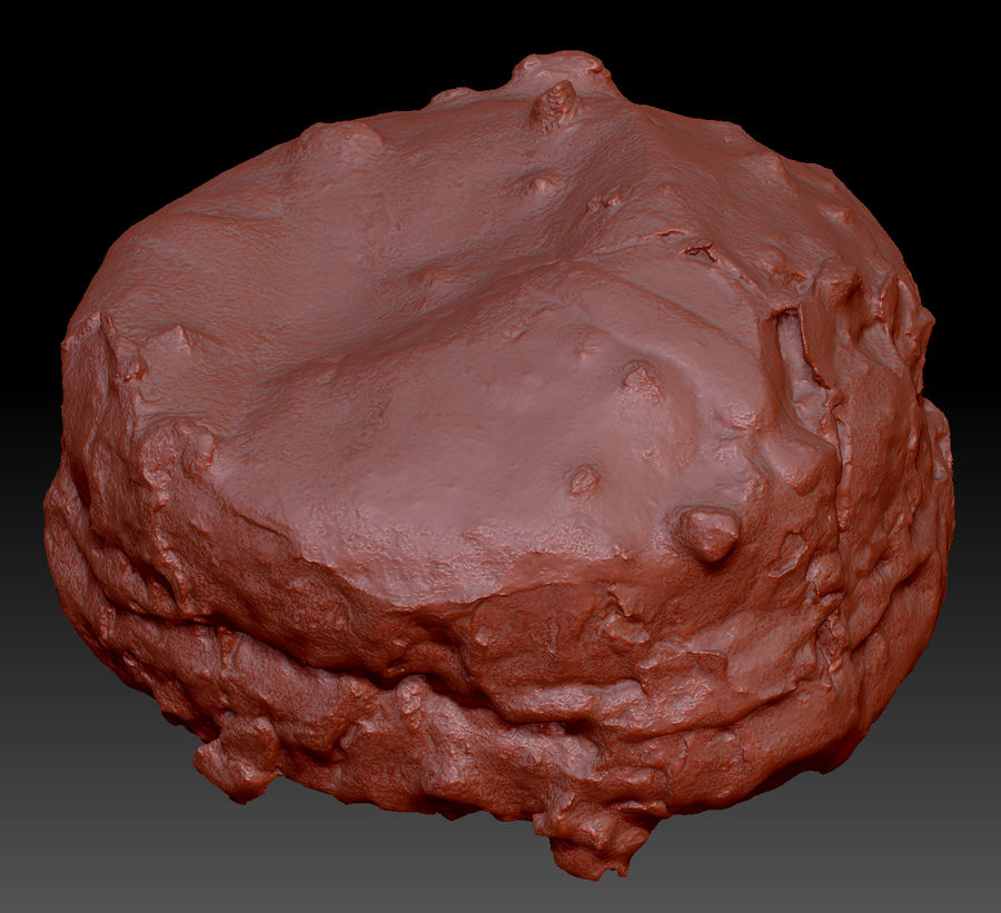 Doughnut Plant Hazelnut Chocolate Donut royalty-free 3d model - Preview no. 2