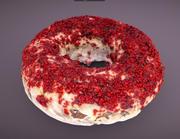 Red Velvet Donut 3d model
