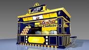 Airport Cafe bistro 3d model