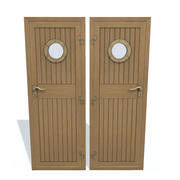 Ship wooden door C 3d model