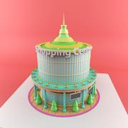 만화 쇼핑 센터 3d model