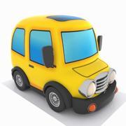 Toon Car (Низкополигональная) 3d model