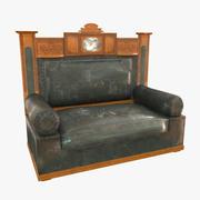 Antique Sofa USSR 1930s 3d model