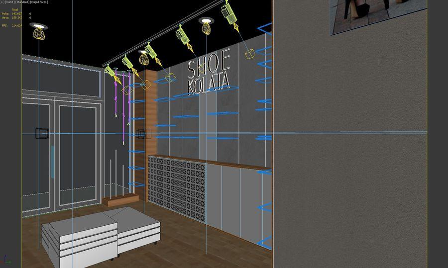 Shoe Shop 02 royalty-free 3d model - Preview no. 5
