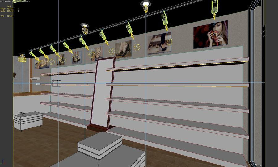 Shoe Shop 02 royalty-free 3d model - Preview no. 4