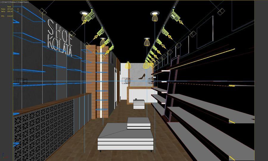 Shoe Shop 02 royalty-free 3d model - Preview no. 2