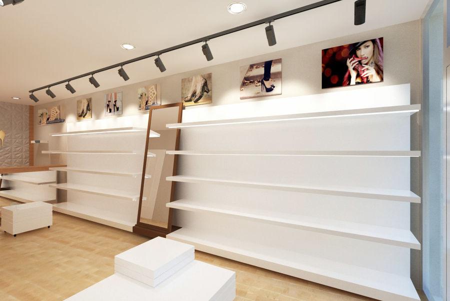 Shoe Shop 02 royalty-free 3d model - Preview no. 3
