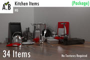 Kitchen Items (Package) 3d model