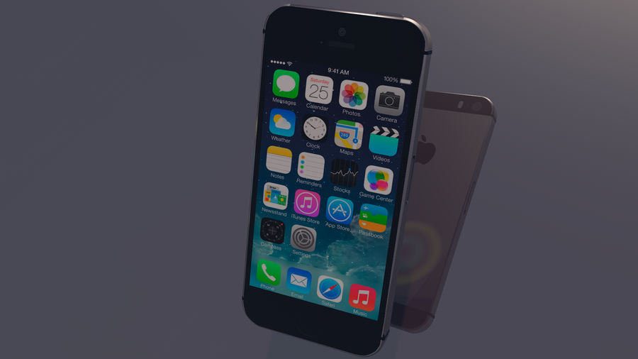 iPhone SE royalty-free 3d model - Preview no. 3