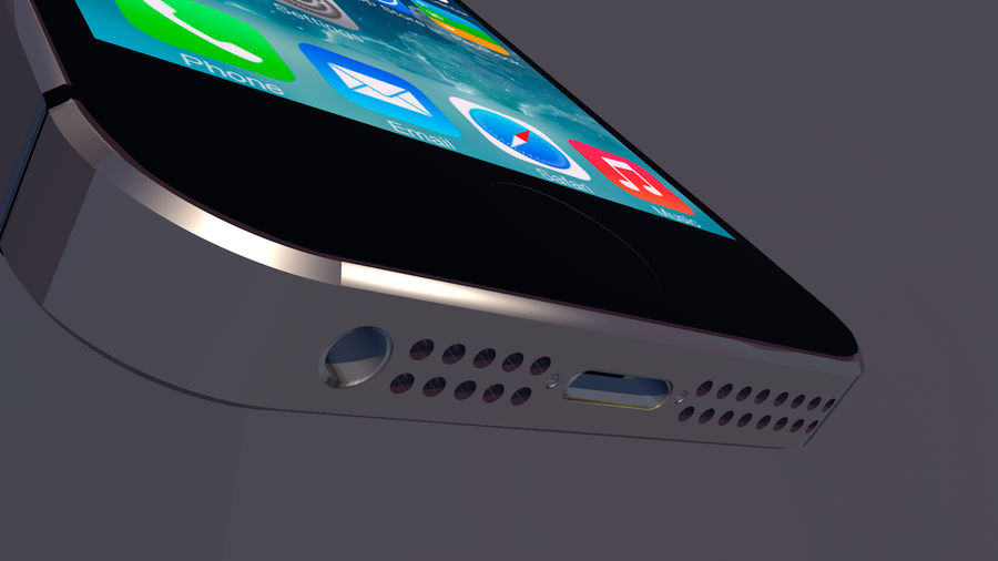 iPhone SE royalty-free 3d model - Preview no. 4